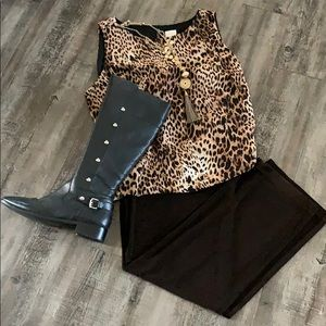 Chico's on trend leopard print shell.Tunic